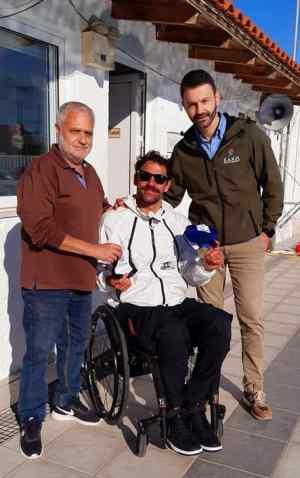 Το ΕΑΚΗ υποδέχθηκε τον Χάλκινο Παραολυμπιονίκη Αντώνη Τσαπατάκη
