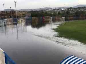 Λίμνη το γήπεδο στην Κρήτη-Αναβλήθηκε το παιχνίδι