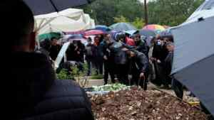Θρήνος στην κηδεία του ποδοσφαιριστή
